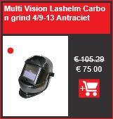 Multi Vision Lashelm Carbon grind 4/9-13 Antraciet | Primex